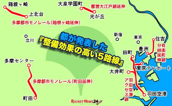 【新駅誕生?】JR東日本・有楽町線・大江戸線・多摩モノレールの延伸案は現状はどうなってるのか徹底的に調査してみた!