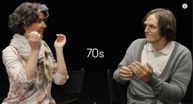 20代の婚約カップルに50~90代の老け顔メイクしたらこうなった