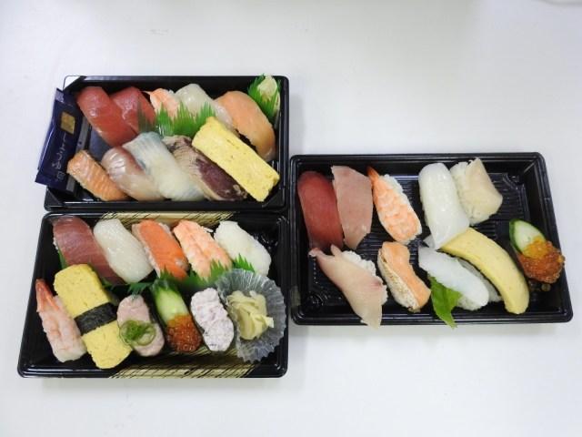 【スシローVSくら寿司VSかっぱ寿司】100円回転寿司の『持ち帰り寿司』はどこが一番ウマい?実際に買って確かめてみた