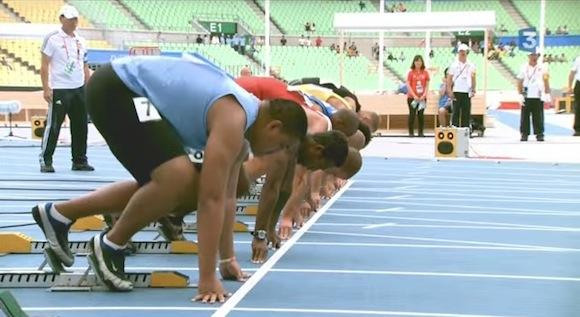 【衝撃陸上動画】100メートルを驚異のスピードで走る選手がアメリカンサモアにいた!!