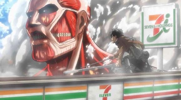 【期間限定】セブン-イレブン×進撃の巨人のWEB動画が秀逸 / ギリギリで壁を越えられない巨人の姿に泣いた