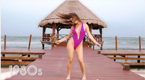 【動画で学ぼう】セクシーモデルで振り返る「女性水着125年の歴史」 時代と共に布面積がどんどん小さくなっていることが判明