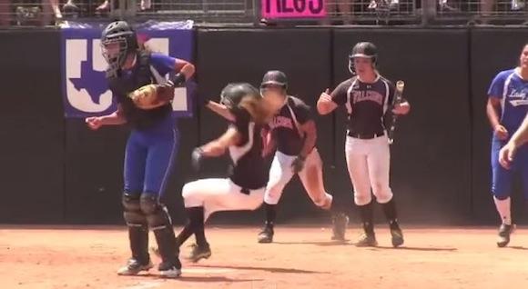【衝撃動画】これはヒドすぎる! 女子ソフトボールで超悪質なラフプレーが激撮される