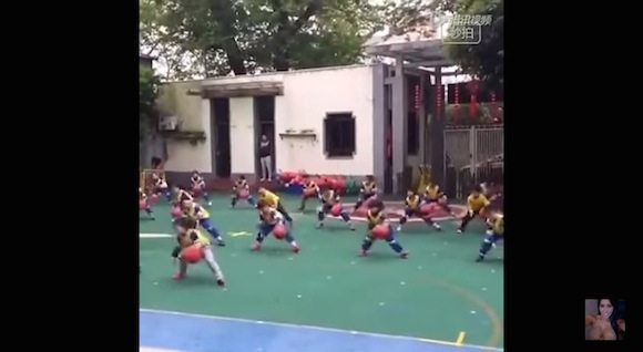 【動画あり】中国発祥のバスケ体操が猛烈にかわいい