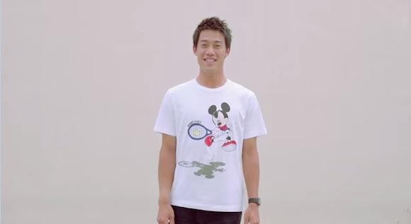 【動画あり】ミッキーがテニスとゴルフに挑戦! 錦織圭選手らとコラボしたTシャツがめちゃくちゃカワイイ!!