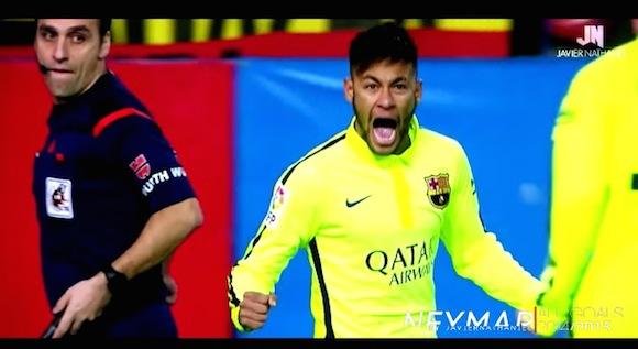 【衝撃サッカー動画】ブラジル代表・ネイマール選手が2014〜15年シーズンに決めたゴール全39連発