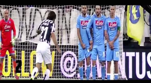 【衝撃サッカー動画】欧州王者にチームを導くのはこの男の右足!? ユベントス・ピルロ選手のフリーキックベスト10