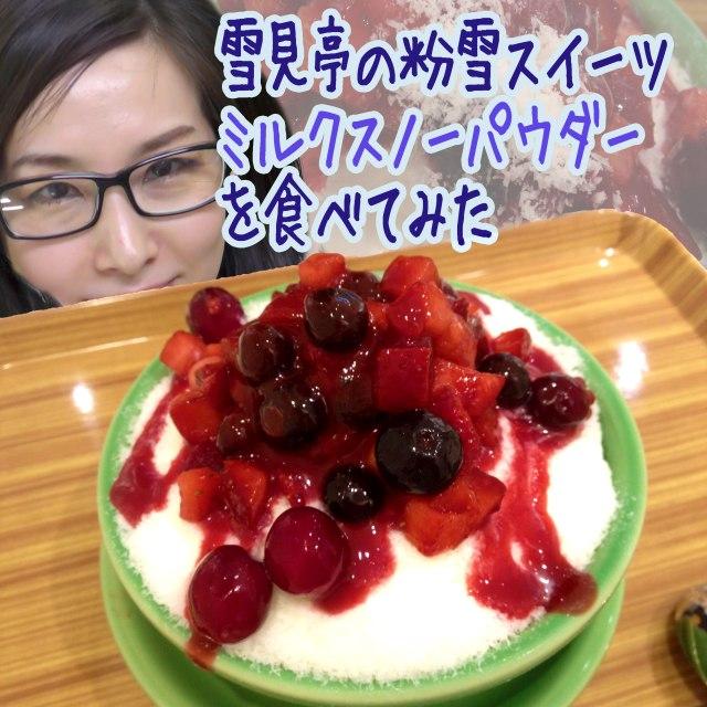 【グルメ】かき氷ではない! 粉雪スイーツだ!! 中野『雪見亭』の新食感スイーツが思わず「こなぁぁゆきぃぃ!」と歌うほどサラふわで感動した