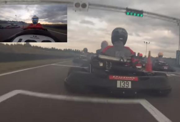 F1チャンピオンが素人相手にカートでレースしたらこうなった / 最後尾から全員をごぼう抜き!
