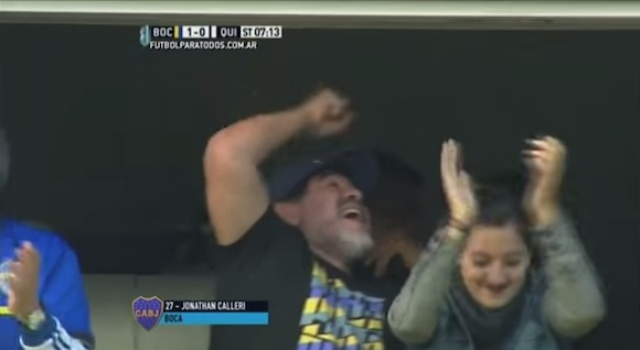 【衝撃サッカー動画】マラドーナも大興奮! 創造性溢れる芸術ゴールがアルゼンチンリーグで決まる