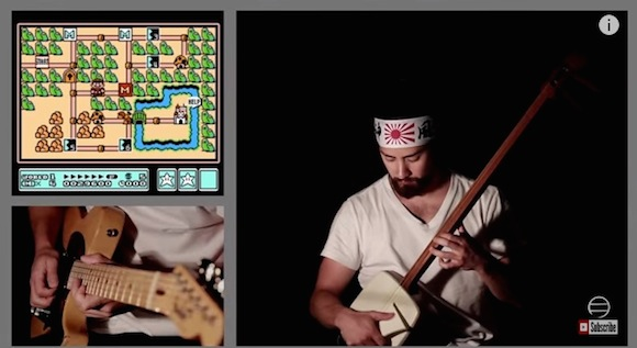 【演奏してみた】これは鳥肌レベル! たった一人でゲーム『マリオ3』のBGMを再現する男