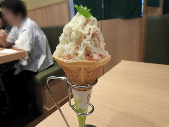 ソフトクリームと寿司を融合した『ソフト寿司~ム』がヤバすぎ / 大都会岡山の人気回転寿司店「いわ栄」名物