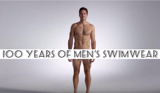 【歴史を学ぼう】 ムキムキ兄貴のナマ着替え風「男性水着100年の歴史動画」が再生回数200万回超の大ヒットに