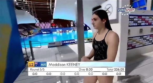 【動画あり】世界水泳の飛び込みで0点を叩き出した演技が切なすぎる