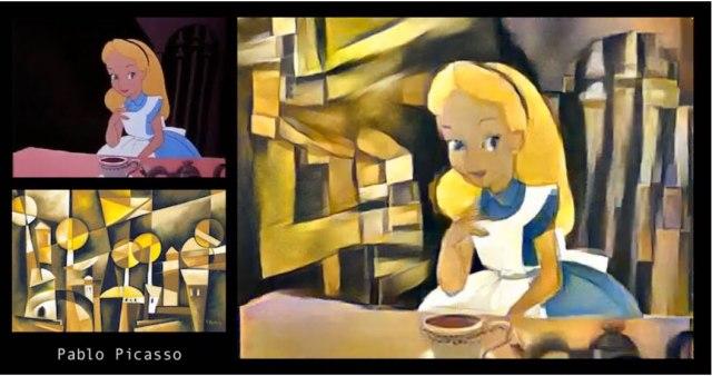 【動画】ディズニー『ふしぎの国のアリス』をゴッホやピカソが描いたらこうなっるって映像がハチャメチャにクレイジー! まさにワンダーランドな件