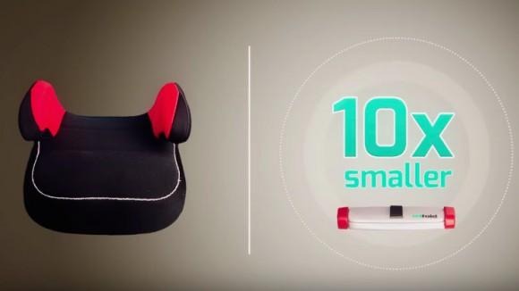 【その発想はなかった】10分の1の大きさでも同じ安全性!「近未来型チャイルドシート」が超アメージング!!