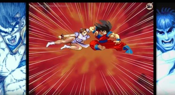 【衝撃格闘動画】ドラゴンボールの孫悟空とスト2のキャラが戦ったらこうなった