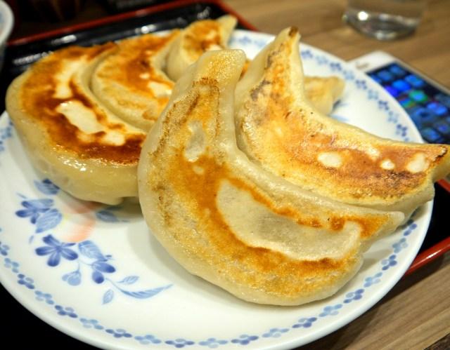 ムッチリとした皮からあふれる肉汁がジュワリ / ジャンボの名にふさわしいデカ餃子 東京・池袋「開楽」