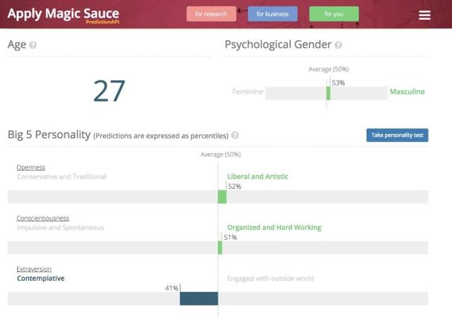 【やってみて】英ケンブリッジ大学が制作した「Facebookを使った人格診断テスト」がオモロイ!  予測年齢に知能レベルまで出てくるぞ!!