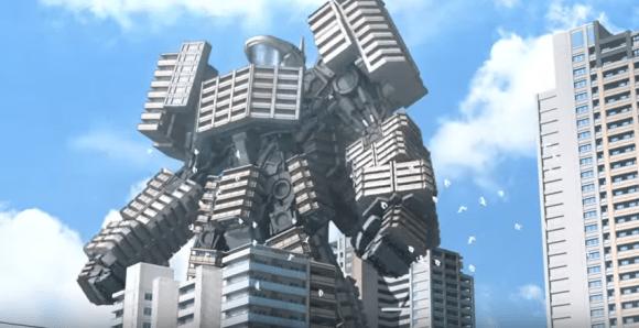 マンションが巨大ロボに