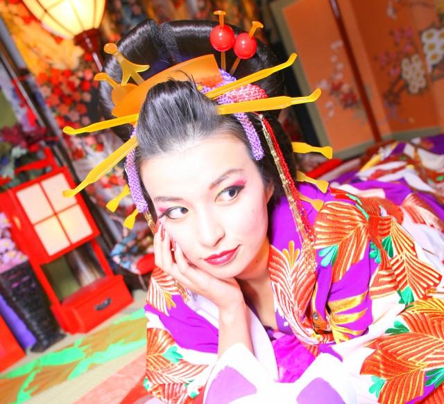 【オススメ】『花魁』になってスタジオ撮影してみたでありんす! 予想以上に本格的でスゲぇぇぇ!! 奈良県大和高田市「やまと桜」