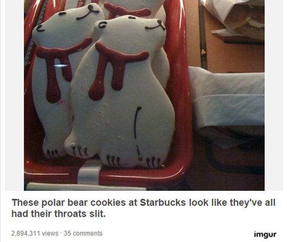 """【画像あり】スタバの """"クリスマス・クッキー"""" が「怖すぎる!」と話題"""