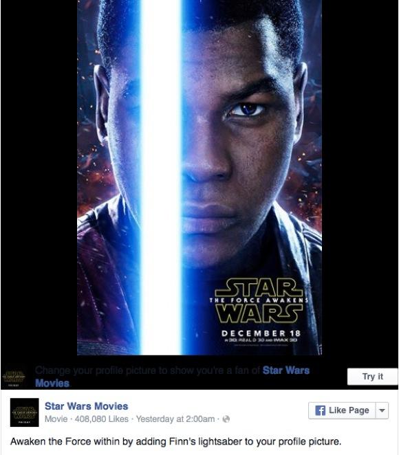 【やってみて速報】 今 Facebook のプロフィール写真に『スター・ウォーズ』のライトセーバーが付けられるぞーーー! 青と赤どっちがいい?