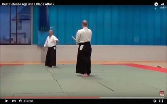 【衝撃格闘動画】合気道の達人が教える「刃物を持った相手」に対峙した際の対処法