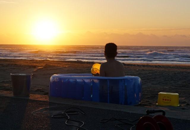【検証】電気自動車でお湯を沸かして露天風呂をやってみたらこうなった