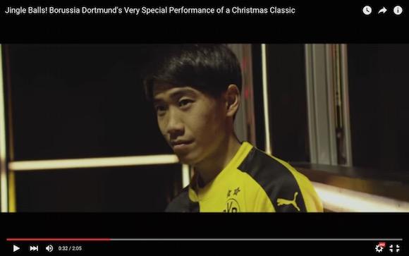 【動画あり】香川真司らドルトムントの選手がサッカーボールで演奏したジングルベルが素敵すぎる