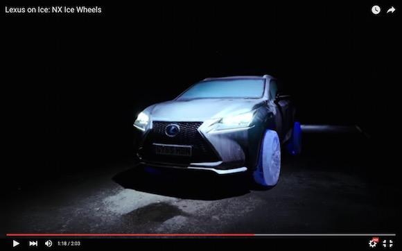 これぞ匠の技! レクサスが「氷のタイヤ」で走行した衝撃動画を公開