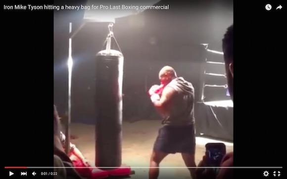 【衝撃格闘動画】50歳になるマイク・タイソンのパンチが現役復帰できそうなくらい鋭い