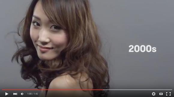 """日本人女性の """"美"""" は100年でこう変化した! って動画がカワイイと話題"""