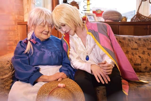 【神クオリティ】台湾コスプレイヤーが自分のおばあちゃんと『ハウルの動く城』コス! ため息が出るほど美しく温かい