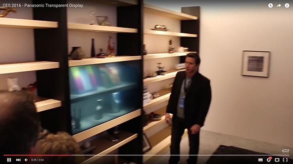 【動画あり】パナソニックが『透明テレビ』を発表 / アイアンマンのような「エアタッチスクリーン機能」も搭載