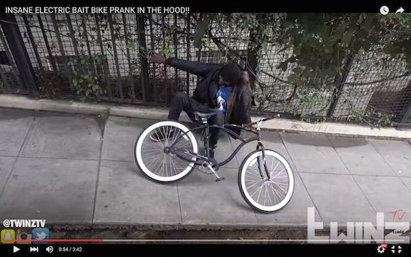 【検証動画】自転車にスタンガンを装着して盗もうとした泥棒を懲らしめてみた