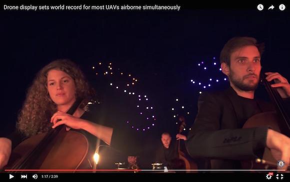 【動画あり】ドローンの新たな可能性を実感! オーケストラとコラボしたライトショーが幻想的でウットリ必至