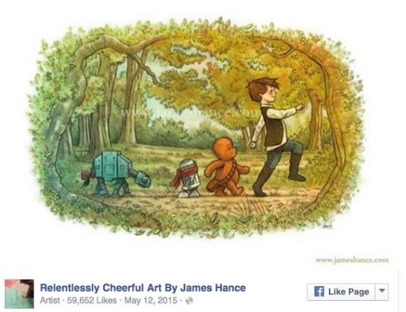【プーさんの日】アメリカ人イラストレーターが描く「プーさん風スター・ウォーズ」が可愛いすぎて悶絶不可避