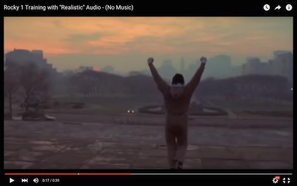 【衝撃事実】映画『ロッキー』の名シーンから音楽をなくすとヤバいことになる