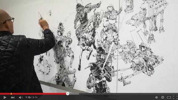【動画】下書きなし! 韓国人イラストレーター『キム・ジョンギ』さんが描く「戦国時代風スター・ウォーズ」が神ワザすぎる!!