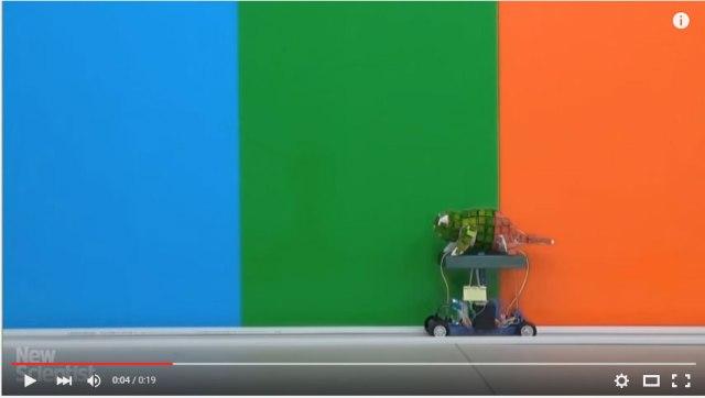 【動画あり】これが「光学迷彩」なのか! 中国人が周囲の色に溶け込むロボットを開発して話題 / いずれは戦場でも使えそうと期待
