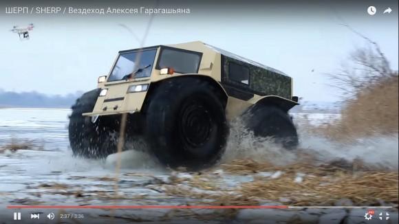 【おそロシア】荒地も水中もOKの「ワイルドすぎる大型乗用車」が戦車レベルの爆進力