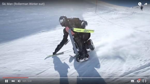 【動画】まるでアメコミヒーロー! 特殊なスーツで雪山を全身で滑る「スキーマン」登場!!