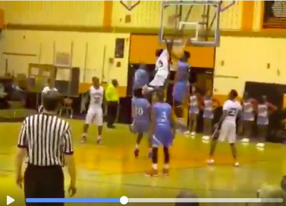 【衝撃バスケ動画】飛びすぎ注意! 身長167センチでダンクした高校生のジャンプ力がまるで映画のよう!!