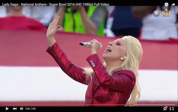 【鳥肌注意】レディー・ガガの国歌斉唱が神すぎると話題