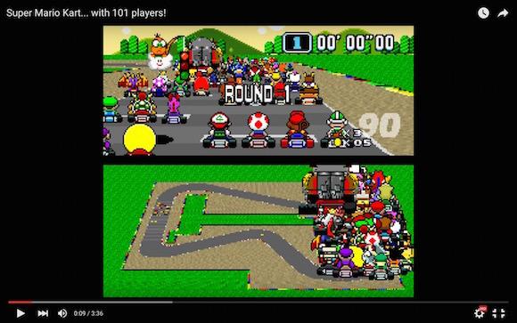 【衝撃検証動画】マリオカートを101人でプレイしたらこうなった