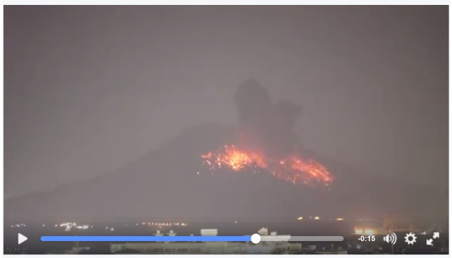 NHKが公開した「桜島噴火の瞬間映像」が凄まじい / 火口から約2キロは引き続き警戒