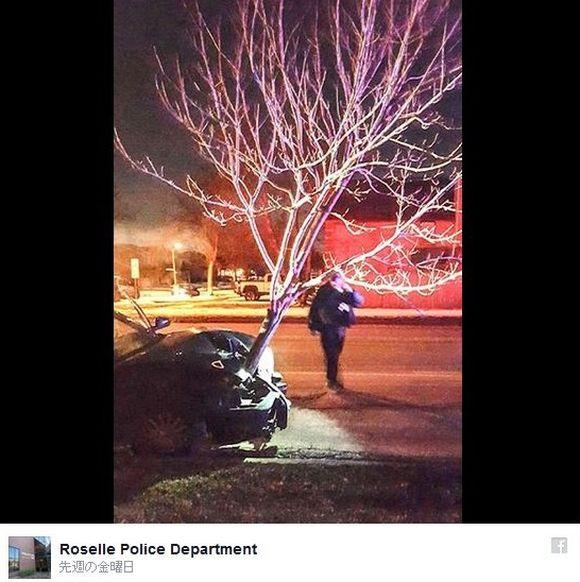 """【衝撃珍画像】""""4メートルもある木"""" が突き刺さったまま走る車が激写される"""