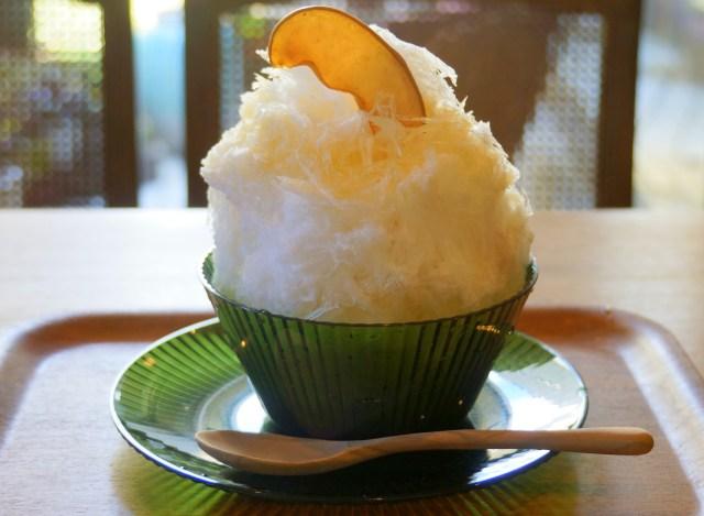 優しさあふれる味! 手作りにこだわる大阪『珈琲屋リンツ』の 「余市のりんごカキ氷」がマジで癒される!!