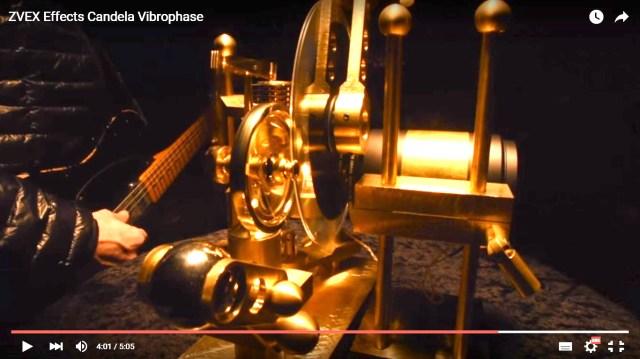 【動画あり】ロウソクの炎が動力源! 映写機のようなギター・エフェクターが新発売 / お値段たったの67万円